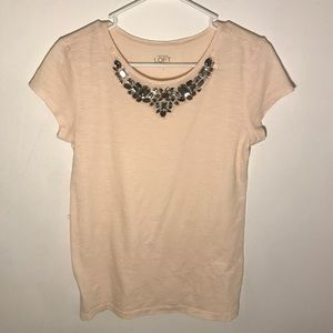 Loft cream top with embellishments